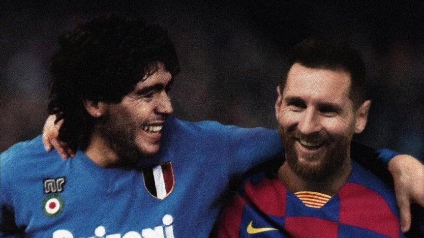 Messi y Maradona, dos salidas con complicaciones del Barcelona