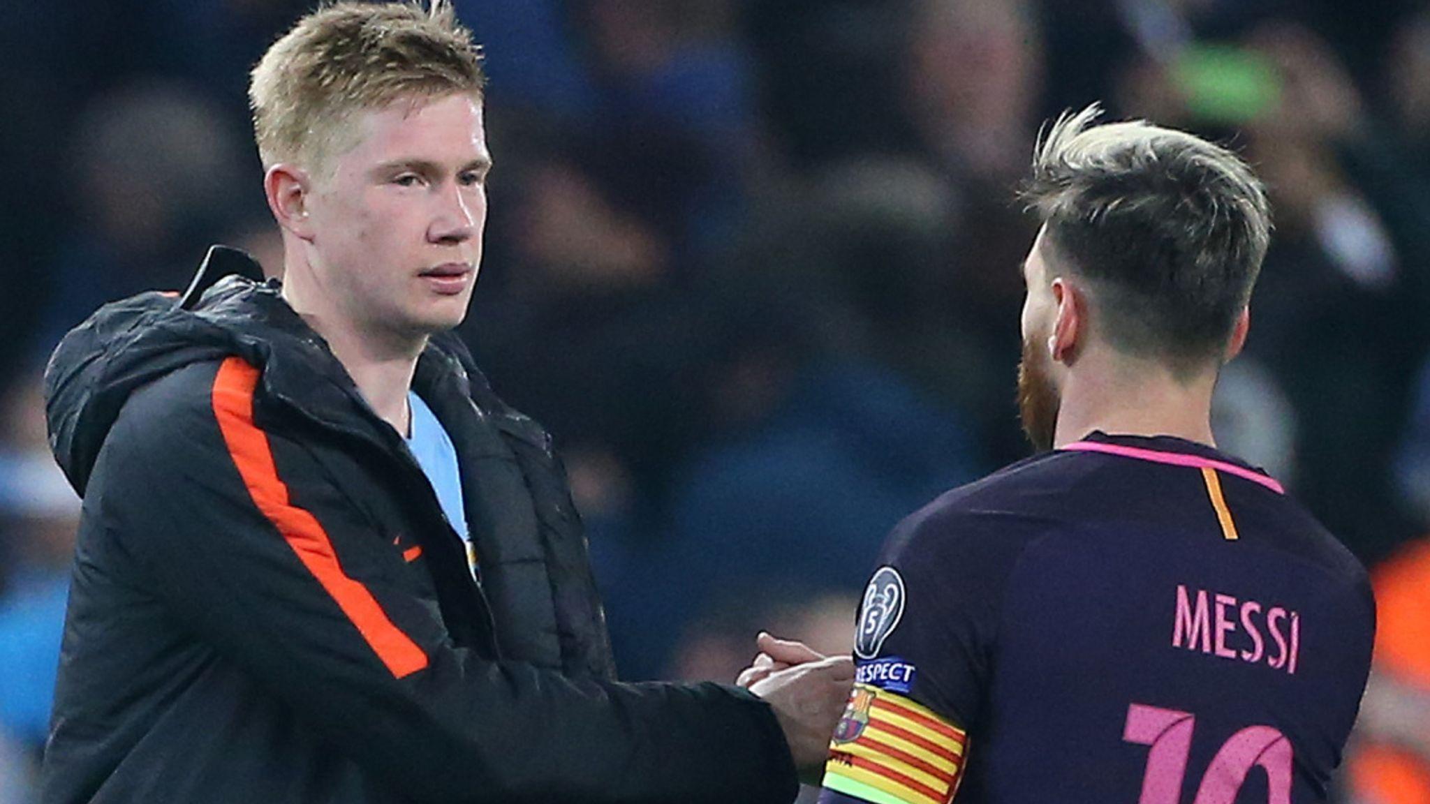 De Bruyne no se desvela por la llegada de Messi