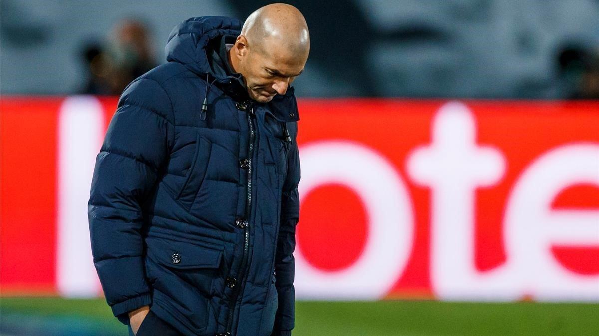Zidane habló tras la dura eliminación en Copa del Rey