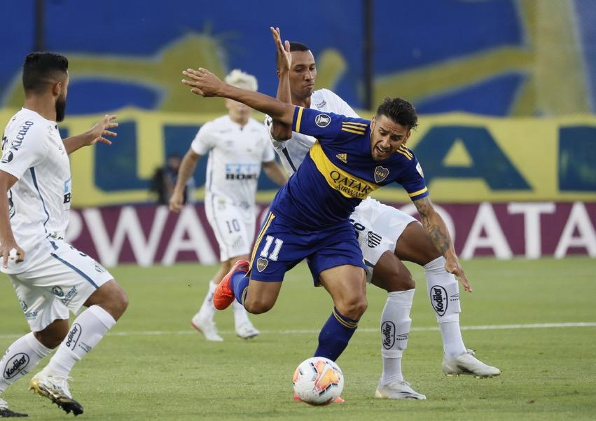 Boca y Santos a mano