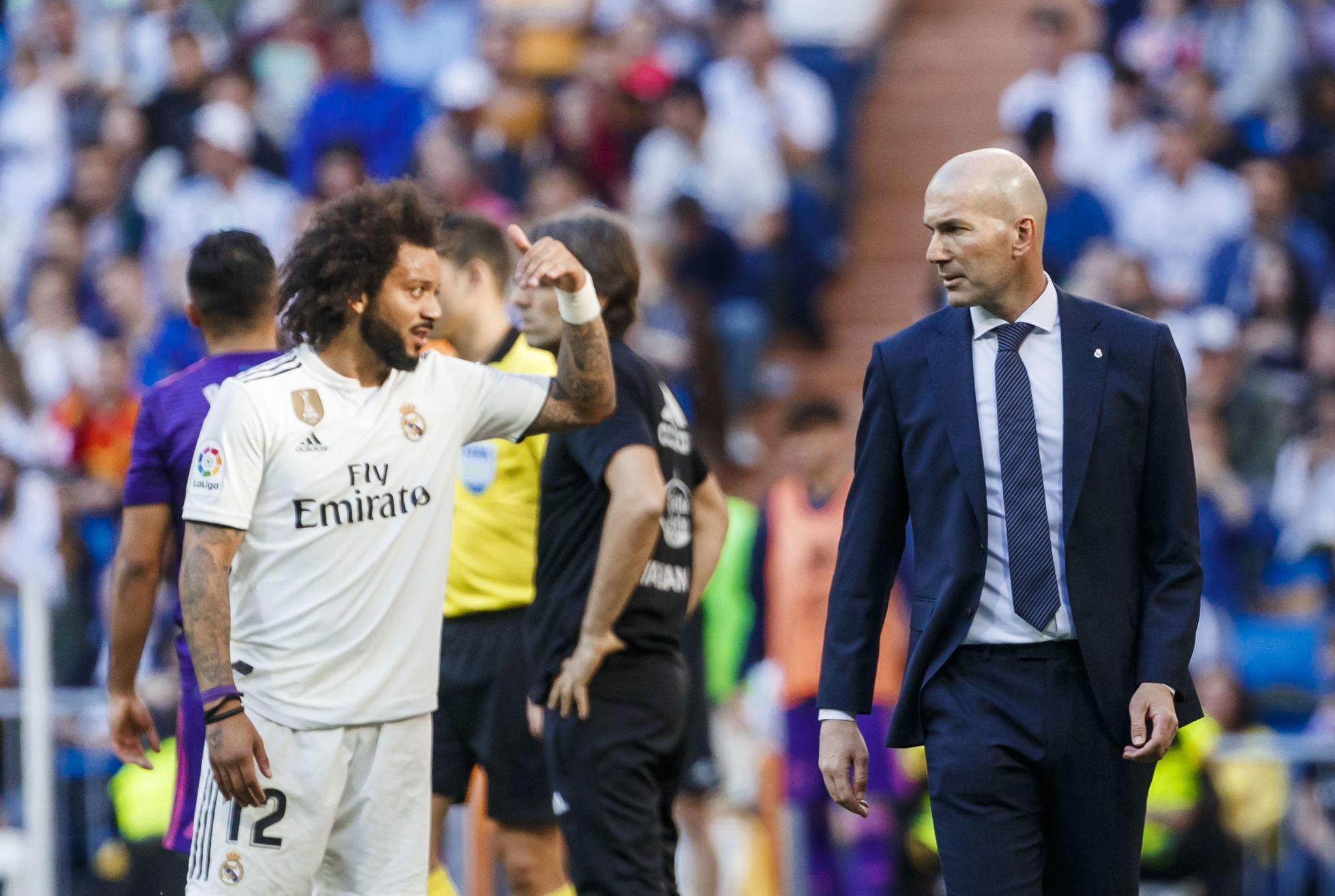 Zidane pierde a Marcelo por una increíble situación