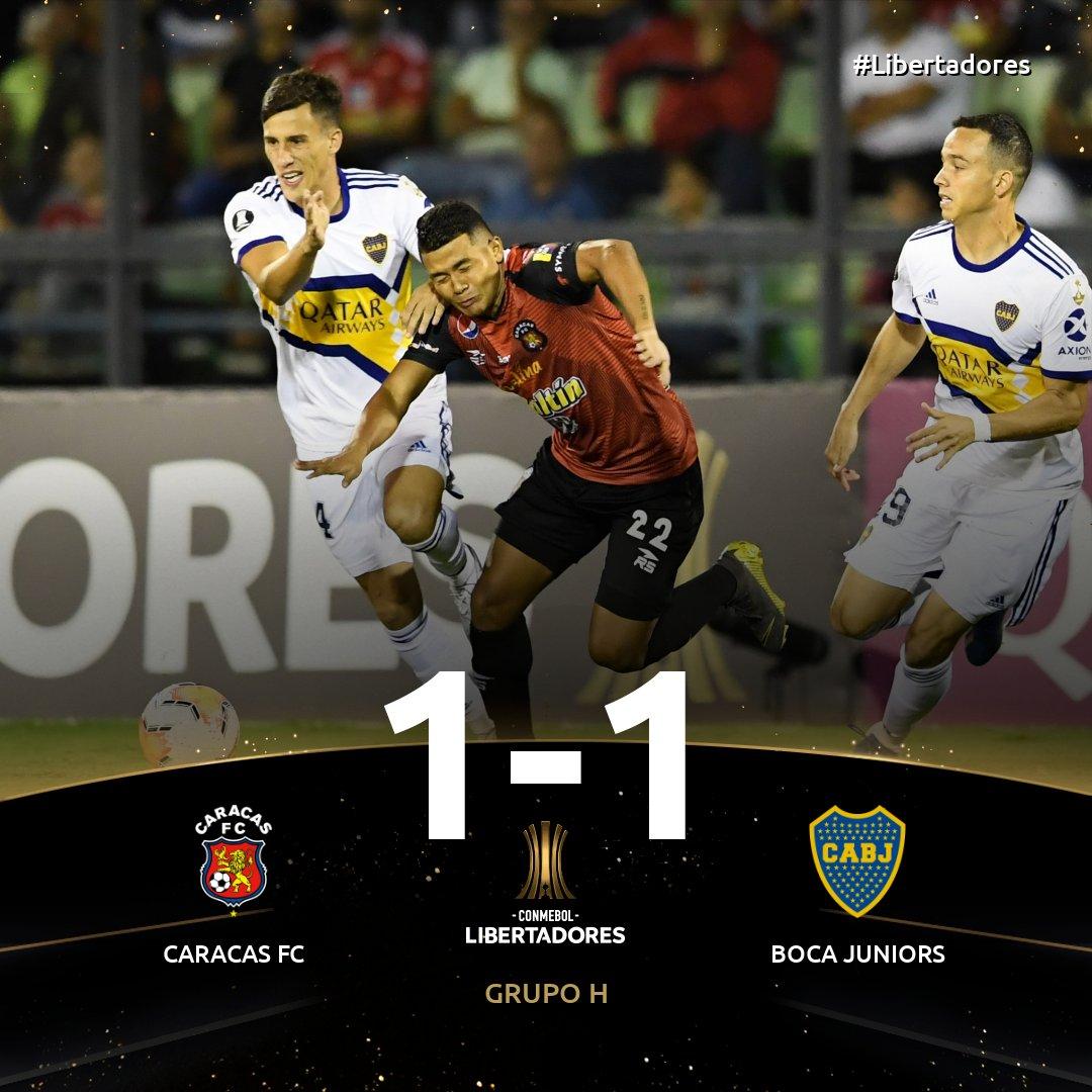 Boca empató en Venezuela en el debut de la Copa Libertadores