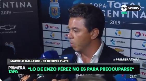 """Gallardo: """"Lo de Enzo no es nada para preocuparse"""""""