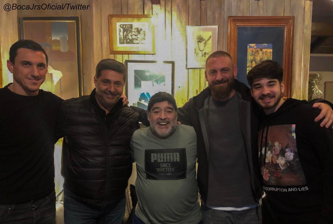 Conocé todos los detalles del encuentro entre De Rossi y Maradona